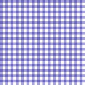 Gingham Purple & White Small