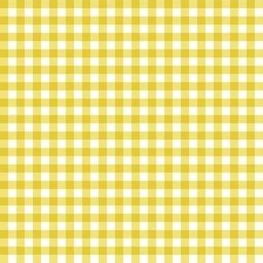 Gingham Yellow & White Small