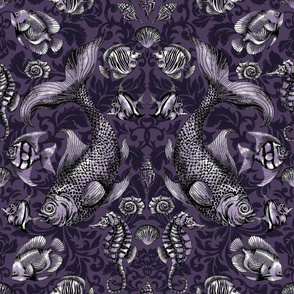 Deep Sea Damask lilac