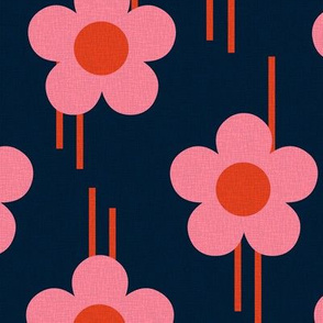 Retro - Pop of flowers - pink