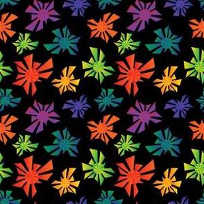 Hawaiian Triangle Geometric Mandalas Rainbow Gradients LGBTQ Pride