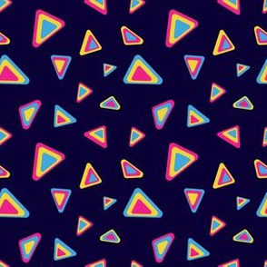 90's Inspired Triangle Shapes Subtle Pan Pride