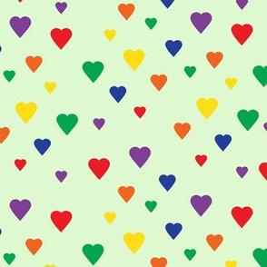 Valentine's Day Joyful Rainbow Assorted Floating Hearts