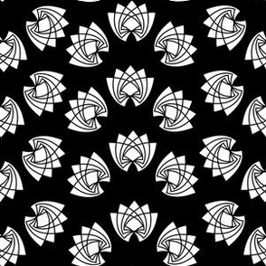 Black and White Diamond Lotus Roses