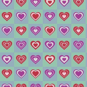 Checkerboard Game Valentine's Day Cute Love Sweet Hearts