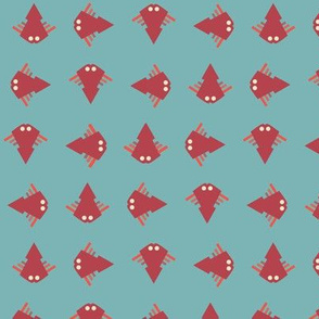 New Tropical Happy Geometric Fish Swimming Everywhere