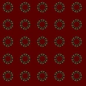 Mid-Century Modern Reds Greens Golds Seasonal Holiday Wreaths