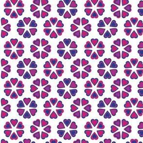 Valentine's Day Love Flower Heart Mandala Pink Purple