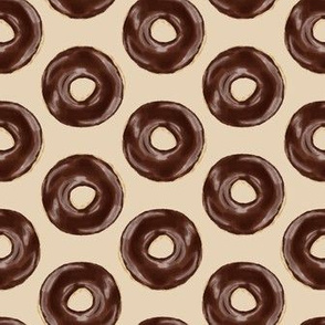 chocolate covered donuts - beige