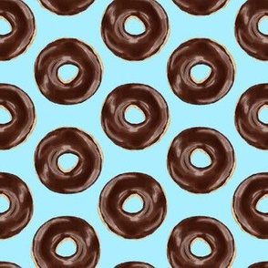 chocolate covered donuts - blue