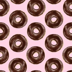 chocolate covered donuts - pink
