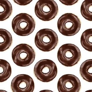 chocolate covered donuts - white