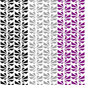 Geometric Triangle Striped Line Purple Grey Black