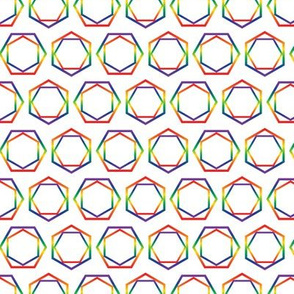 Hexagon Geometric Stripe Rainbow Diamond Shape Pattern