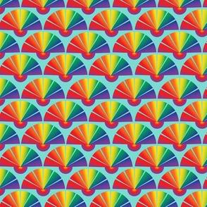 Rainbow Drag Queen Fan Shape Pride Parade Colors