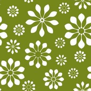 Spring Green Mandala Flower Power