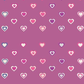 Assorted Pretty Pink Valentine's Day Cute Tiny Hearts