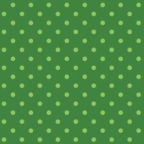 Lime Green Polka Dots on Green