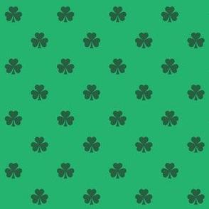 Shamrock Green Polka Dots Luck of the Irish