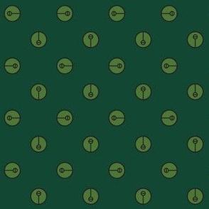 Modern Lime Green Symbol Polka Dots