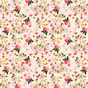 TWIRL 1 pink girly playful ditsy floral valentines_day