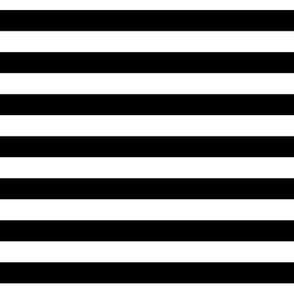 Black and white stripes half inch