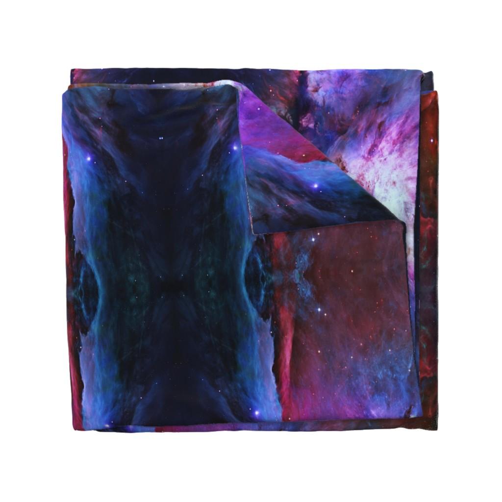 Wyandotte Duvet Cover featuring Orion Nebula (Hubble 2006, colours edited) by azizakadyri