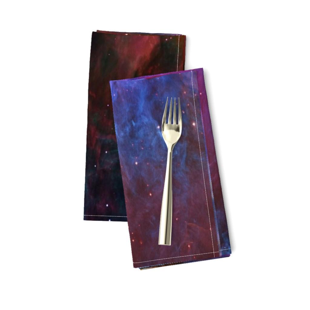 Amarela Dinner Napkins featuring Orion Nebula (Hubble 2006, colours edited) by azizakadyri