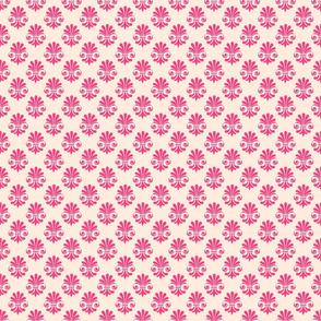 Twirl 3 fleur de lis pink girly cottage farmhouse playful terriconraddesigns