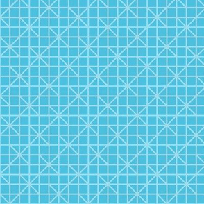two-tone geometric pattern  26 in aqua blues