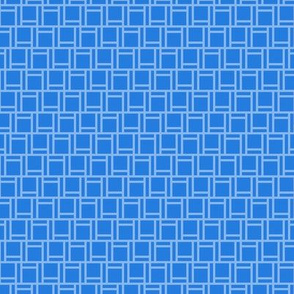 two-tone geometric pattern 27  in blues