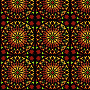Medallion Stained Glass Window Pattern