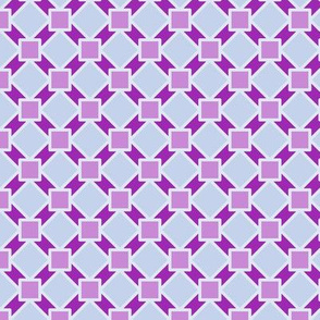 Fancy Diagonal Grid Four-Tone