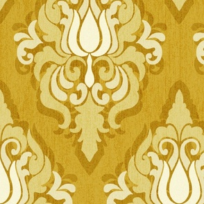 Tulip damask gold