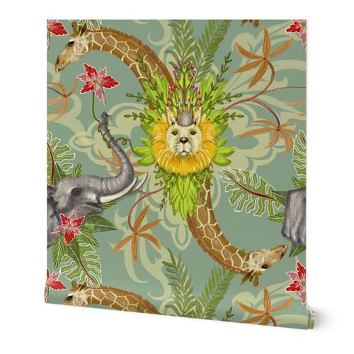 Safari Damask- large print