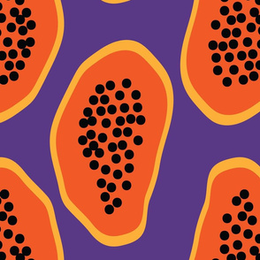 cut papaya pattern by rysunki_malunki