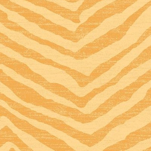 large tiger in bright yellow on linen