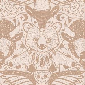 damask totem- brown