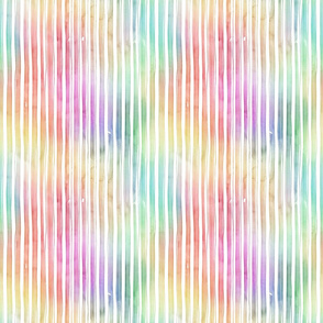 Bright Pastel Watercolor Vertical Stripes and Lines