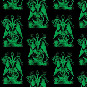 baphomet green on black