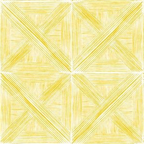 Yellow Watercolor Basketweave - Small Scale