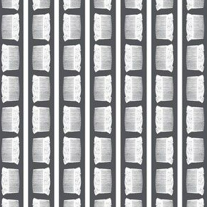 Striped Vintage Ladies Hair Combs in Black & White in White with a Charcoal Gray Background (Mini Scale)