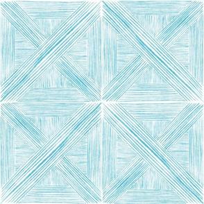 Turquoise Watercolor Basketweave - Medium Scale