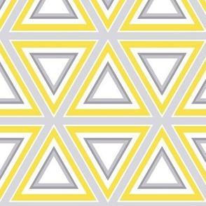 Triangles yellow & gray