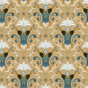 Burle-ask - Teal and Mustard