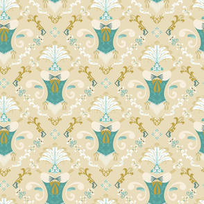 Burle-ask - Teal and White