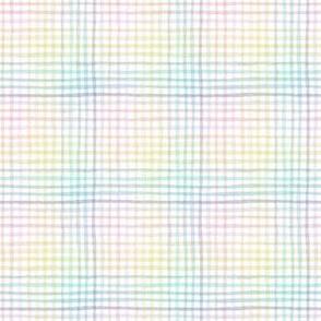 mini pastel rainbow gingham