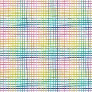 mini rainbow gingham