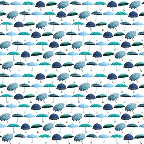 Fun Umbrellas Pattern - Teal