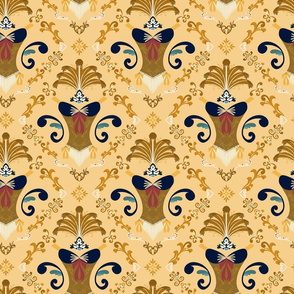 Burle-ask - Gold and Navy-Small
